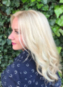 Platinum blonde haircolor done by NicoleMarie at Salon Amnesia in Los Gatos