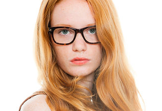 Redhead with glasses