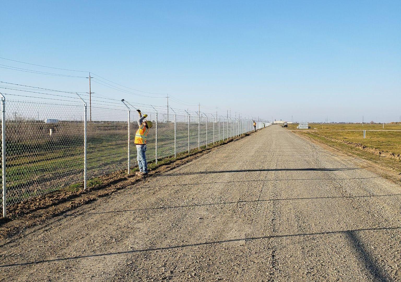 Fence Installation At Trenton
