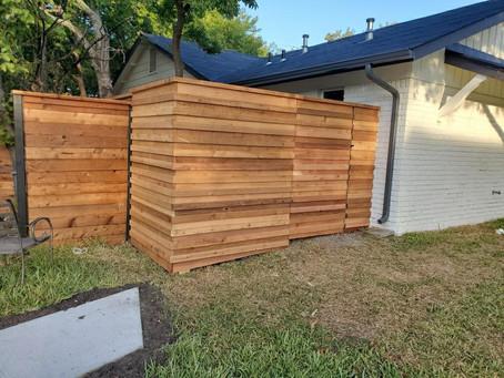 Custom Horizontal Fence in Central Austin