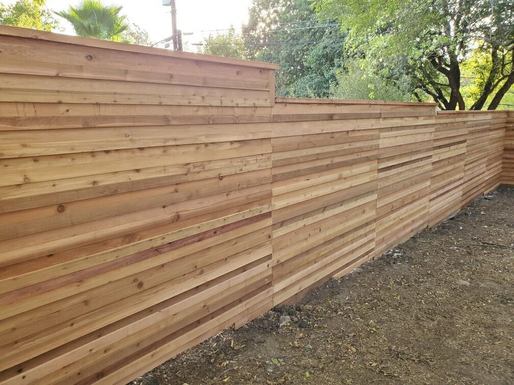 6ft Custom Horizontal Privacy Fence