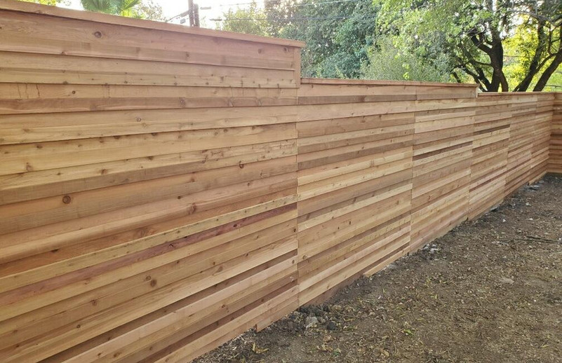 6ft Custom Horizontal Privacy Fence