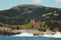 The inn from the ocean