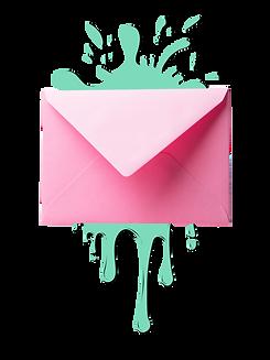 pink envelope paint