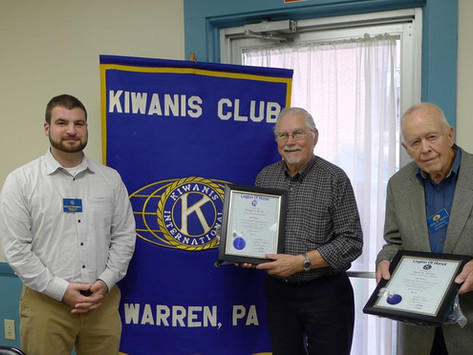 Legion of Honor for Dick Swick, David Winans, & Al Webster