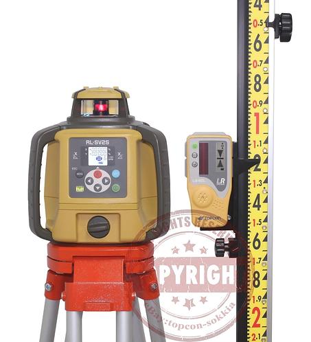 Topcon RL-SV2S Dual Slope Self-Leveling Rotary Grade Laser Level Lenker Package