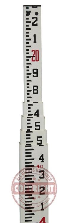 Seco/Crain 20' Fiberglass Tenths Grade Rod
