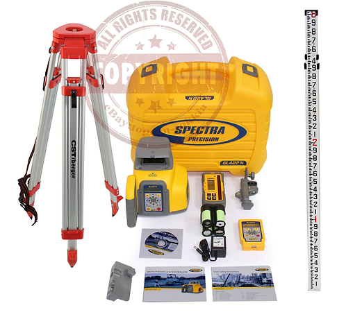 Spectra Precision GL422N + HL760 Self Leveling Rotary Laser Level Package