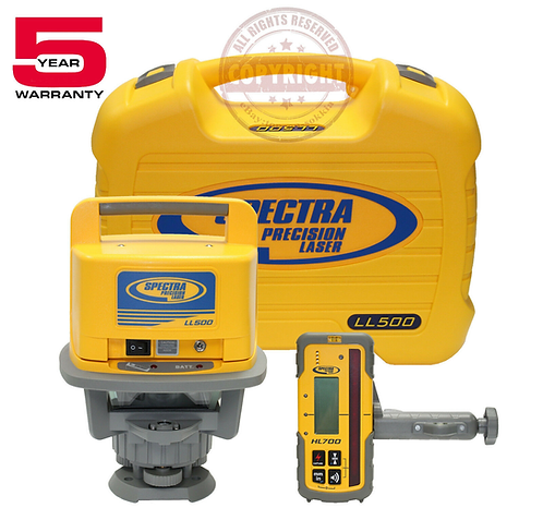 Spectra Precision LL500 + HL700 Self Leveling Rotary Laser Level