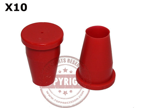 Blank Red Control Surveyors Caps
