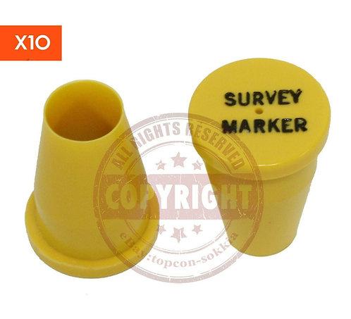 Survey Marker Yellow Surveyors Caps