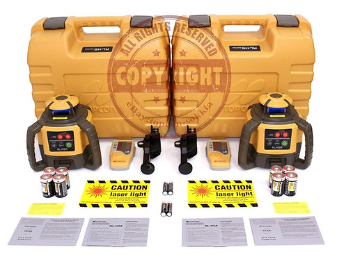 Set of 2 Topcon RL-H5A Self-leveling Rotary Grade Laser Level