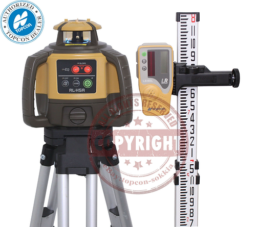 Topcon RL-H5A Self-leveling Rotary Grade Laser Level 8' Grade Rod Package