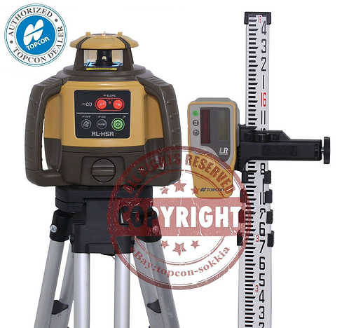 Topcon RL-H5A Self-leveling Rotary Grade Laser Level 16' Grade Rod Packag