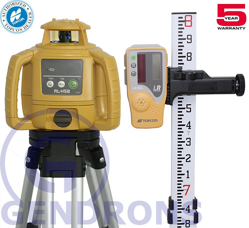 Topcon RL-H5B Self-Leveling Rotary Laser Level 8' Package
