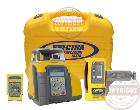 Spectra Precision GL422N + CR600 Self Leveling Rotary Dual Slope Laser Level