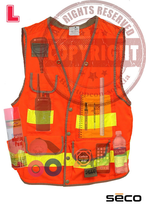 SECO 8069 Surveyors Safety Vest, Class 2
