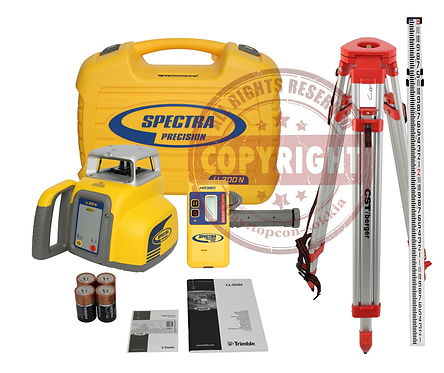 Spectra Precision LL300N Self Leveling Rotary Laser Level Package