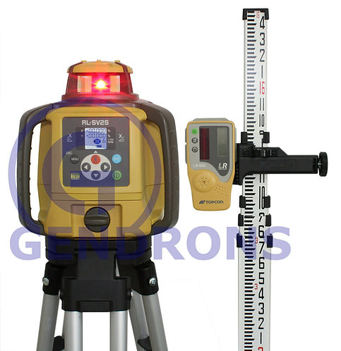 Topcon RL-SV2S Dual Slope Self-Leveling Rotary Grade Laser Level Package