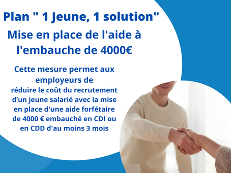 PLAN « 1 JEUNE, 1 SOLUTION »