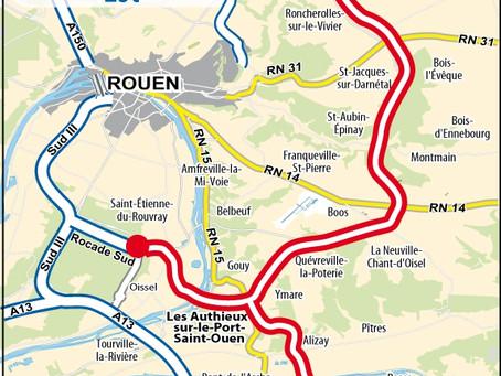 Communiqué de presse : La Métropole Rouen Normandie votre contre le contournement Est