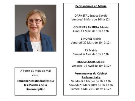 Permanences parlementaires en circonscription