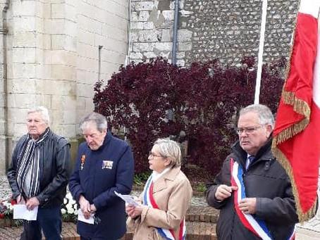 Commémoration du 74ème anniversaire de l'armistice de la Seconde Guerre mondiale.