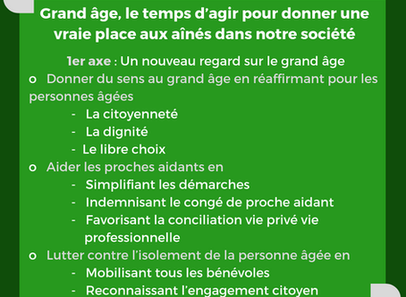 1er axe du rapport Libault : un nouveau regard sur le grand âge