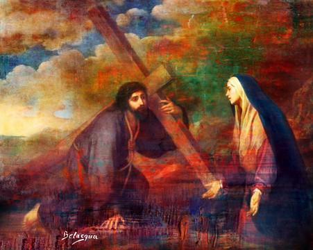Via Sacra 4 Jesus encontra a Mãe