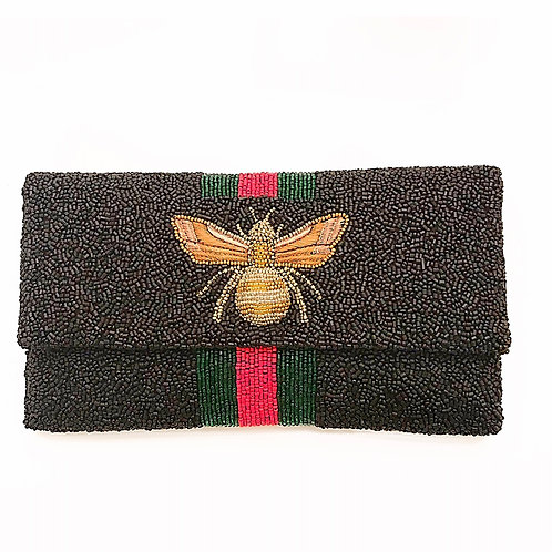 LOWEST PRICE ANYWHERE! AND FREE SHIPPING! Black Gucci Inspired Bee Clutch