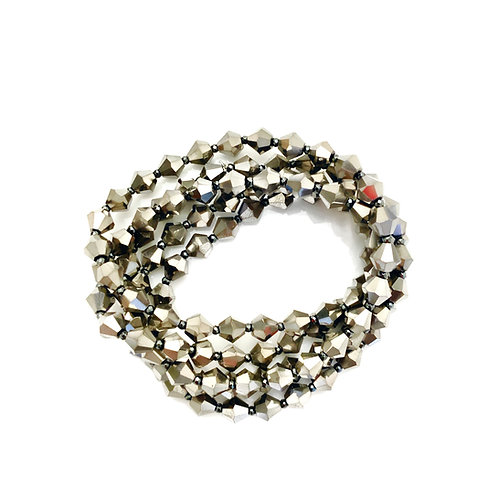 Silver Crystal Wrap