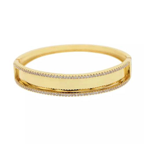 Gold CZ Bangle