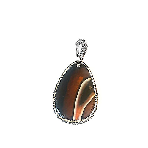 Interchangeable Brown Agate Pendant