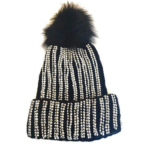 Black Blinged Out Hat