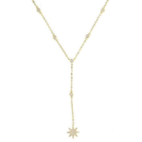 Gold Starburst Necklace