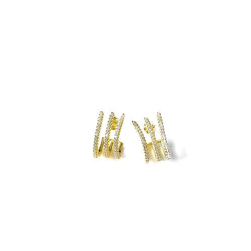 Pave Gold Wraparound Studs