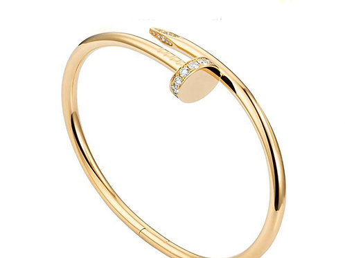 Stainless Steel CZ Nail Bracelet