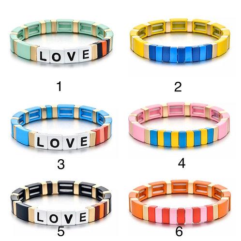 Tile Beaded Bracelets
