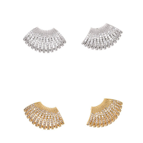 CZ Fan Earrings