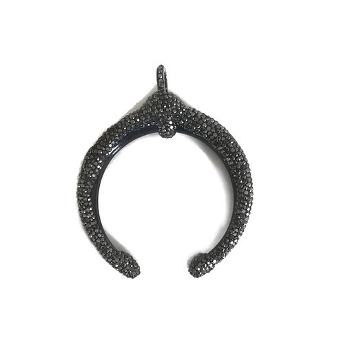 Interchangeable Black Crescent Pendant