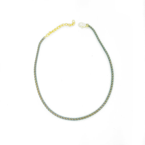 Grey & Gold Chain Choker