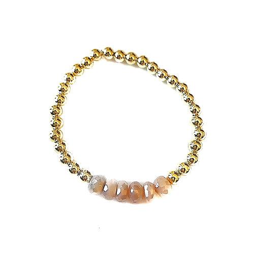 Metallic Pearls & Moonstone