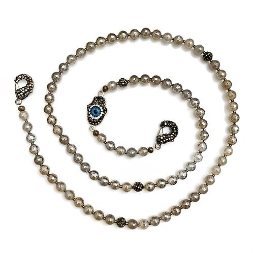 Mystic Grey Mask Necklace