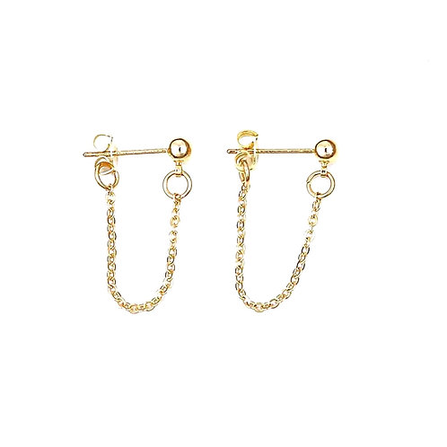 Small Gold Chain Earrings