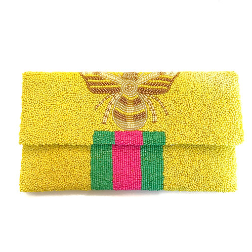 Yellow Gucci Inspired Bee Clutch