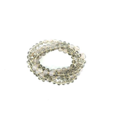 Grey Crystal & Agate Wrap