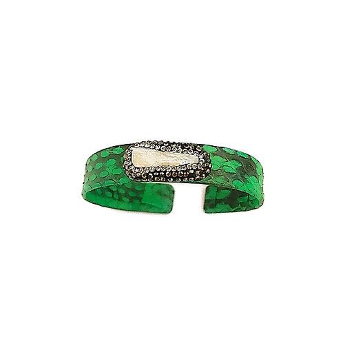 Green Python Cuff