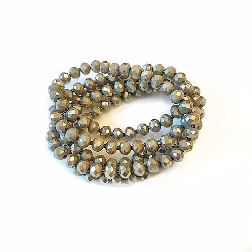 Taupe Crystal Wrap