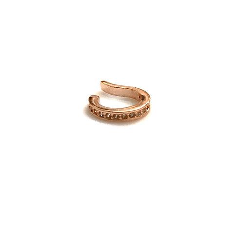 Single Rose Gold CZ Ear Cuff