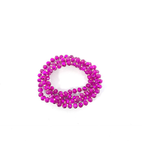 Fuchsia & Gold Crystal Wrap